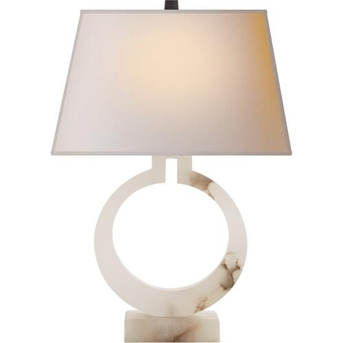 Visual Comfort CHA8970ALB-NP E. F. Chapman Ring 27 inch 100 watt Alabaster Natural Stone Decorative Table Lamp Portable Light