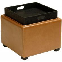 See Details - Bobbi Tray Storage Ottoman - Java / Saddle