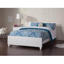 View Product - Orlando Full Bed with Matching Foot Board in White