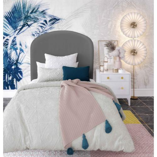 Tov Furniture - Vivi Grey Velvet Bed in Twin