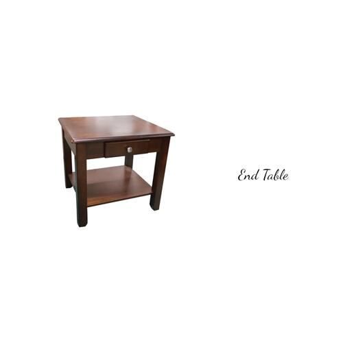 American Wholesale Furniture - Walnut 3 Pack - Cocktail Table & Two End Tables