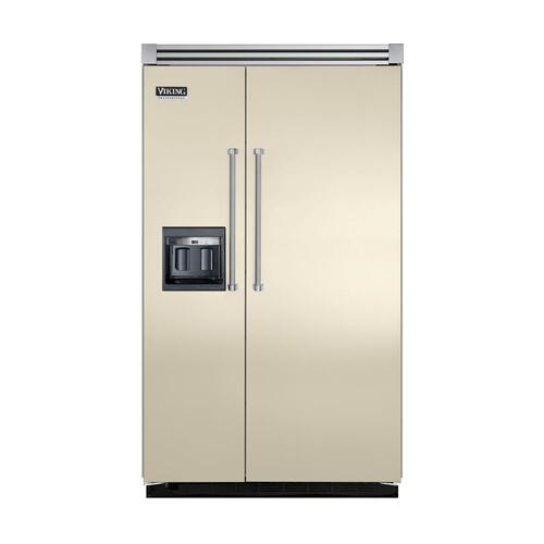 "Viking - Biscuit 48"" Side-by-Side Refrigerator/Freezer with Dispenser - VISB (Integrated Installation)"