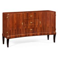 Art Deco Satin Curved Sideboard