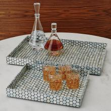 Mother of Pearl Tray-Black-Lg