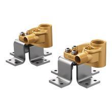 See Details - Moen Double Floor Mount Tub Filler concrete Mounting System