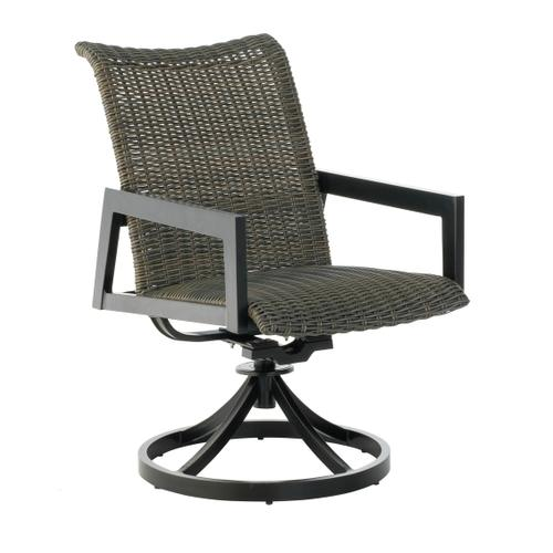 Aston Stackable Wicker Cast Dining Swivel Rocker