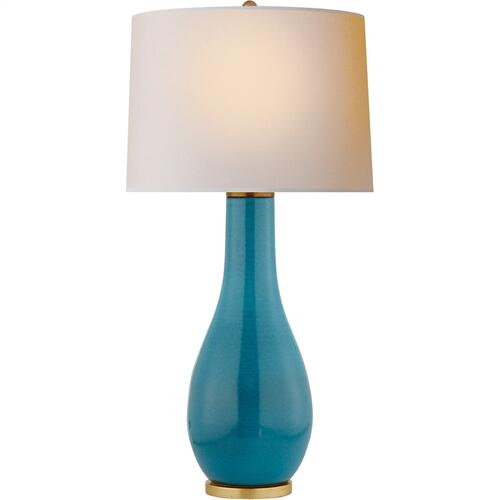 Visual Comfort CHA8655OSB-NP E. F. Chapman Orson 33 inch 150 watt Oslo Blue Table Lamp Portable Light
