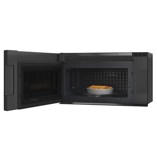 Café 2.1 Cu. Ft. Smart Over-the-Range Microwave Oven in Platinum Glass