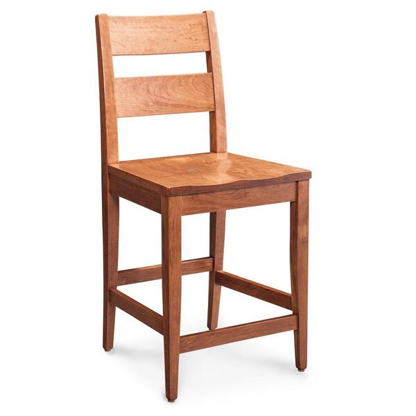 """See Details - Cadira Stationary Barstool, 30"""" Seat Height / Fabric Cushion Seat"""