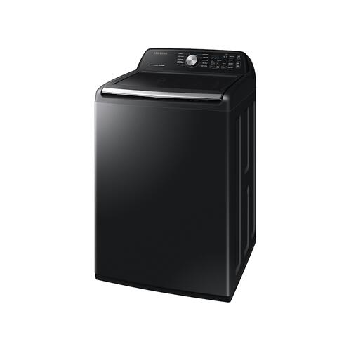 4.5 cu. ft. Capacity Top Load Washer with Active WaterJet in Brushed Black