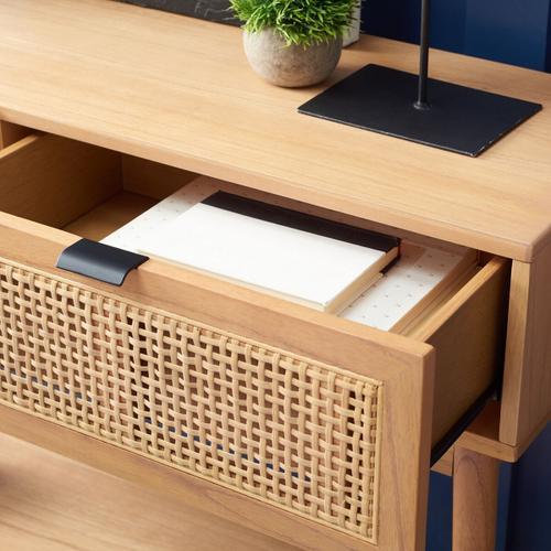 Safavieh - Baisley 2 Drawer Rattan Console Table - Natural