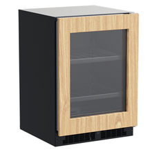 View Product - 24-In Built-In Beverage Center With 3-In-1 Convertible Shelves with Door Style - Panel Ready Frame Glass