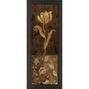 """Golden Tulip Il"" By Tava Studios Framed Print Wall Art"