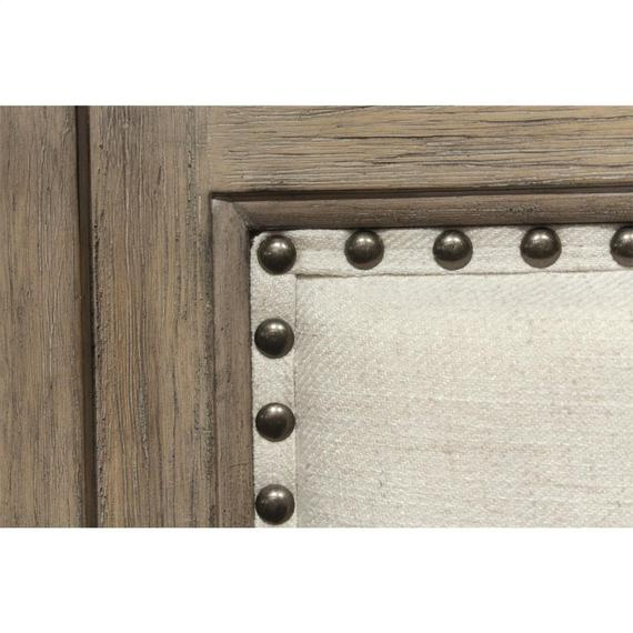Riverside - Myra - Queen Upholstered Bench Storage Footboard - Natural Finish