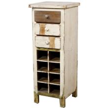 View Product - Tuscany Small Wine Chest, Rustic White