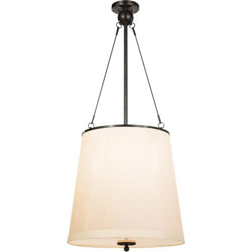 Visual Comfort BBL5023BZ-S Barbara Barry Westport 3 Light 18 inch Bronze Hanging Shade Ceiling Light