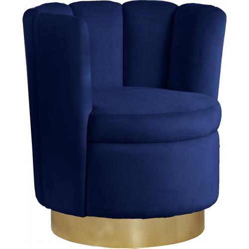 "Lily Velvet Accent Chair - 30"" W x 27"" D x 31"" H"