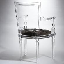 Marilyn Acrylic Arm Chair-Pewter