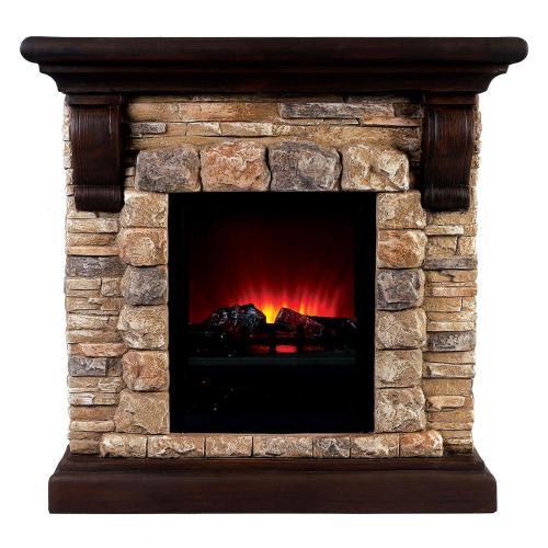 Furniture of America - Vesti Faux Stone Fireplace