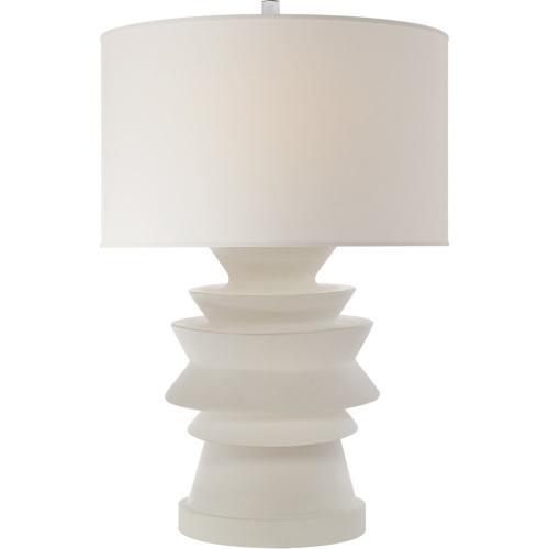 Visual Comfort CHA8693WHT-PL E. F. Chapman Stacked Disk 29 inch 100 watt White Porcelain Table Lamp Portable Light