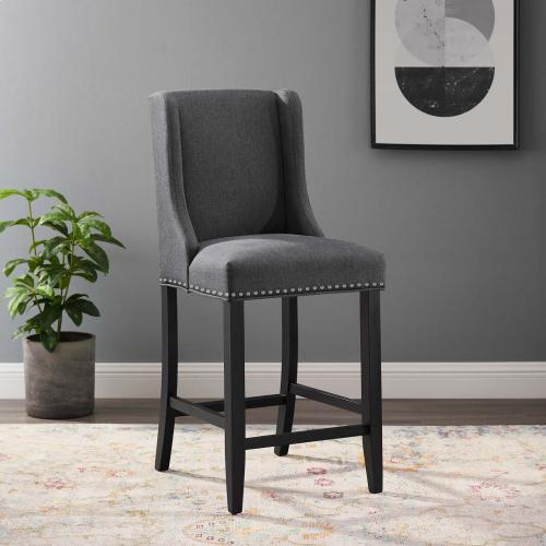 Baron Upholstered Fabric Counter Stool in Gray