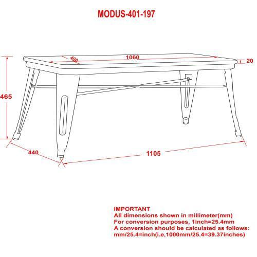 Modus Bench in White