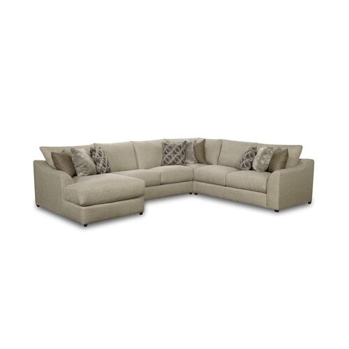 9915 Vivian Four Piece Sectional with Chaise