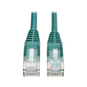 Cat5e 350 MHz Snagless Molded (UTP) Ethernet Cable (RJ45 M/M) - Green, 15 ft.