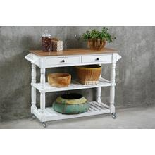 CC-TAB192TLD-WWCFSV  Kitchen Island with Casters  White Sideboard  Kitchen Cart