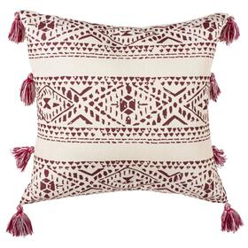 Landria Pillow - Beige / Red