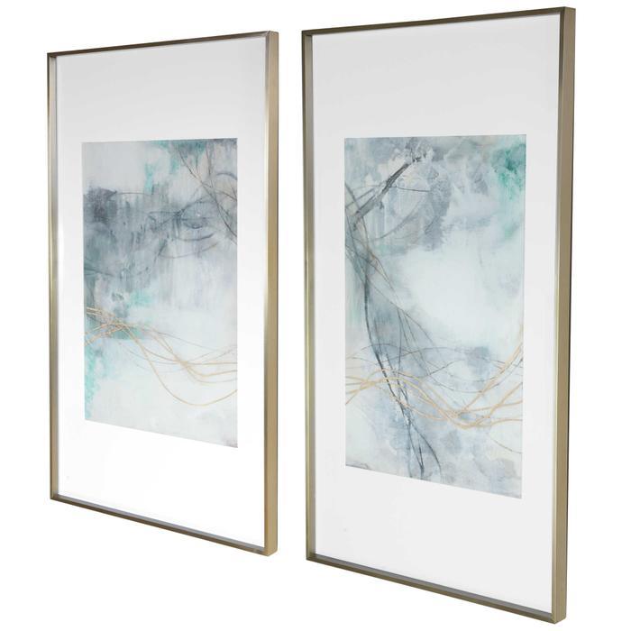 Uttermost - Undulating Oro Framed Prints, S/2, 2 Cartons
