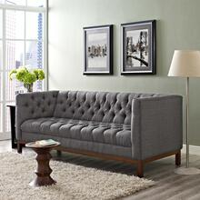 Panache Upholstered Fabric Sofa in Gray