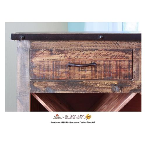 Artisan Home Furniture - Multicolor Bookcase & Wine w/2 drawers
