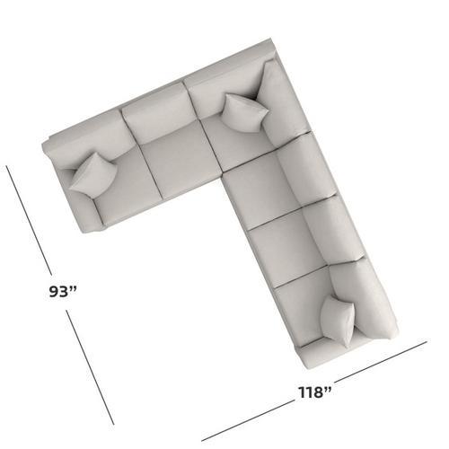 Bassett Furniture - Carolina Sock Arm Large L-Shaped Sectional