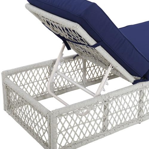 Accentrics Home - Simple Weave Chaise Lounge