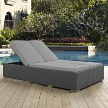 Sojourn Outdoor Patio Sunbrella® Double Chaise in Chocolate Gray