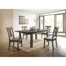 See Details - Hanover Bramble Hill 5-Piece Dining Set with Expandable Table and 4 Wood-Seat Side Chairs in Weathered Gray Finish, HDR006-5WD-WG