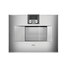 "Gagganau  BS470610   400 series Combi-steam oven BS 470 610 Stainless steel-backed full glass door Right-hinged Controls at the top Width 24"" (60 cm)"