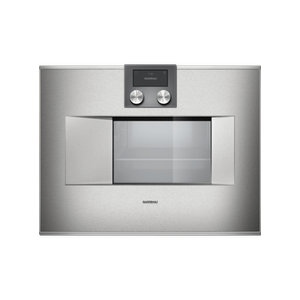 """Gaggenau - 400 series Combi-steam oven BS 470 610 Stainless steel-backed full glass door Right-hinged Controls at the top Width 24"""" (60 cm)"""