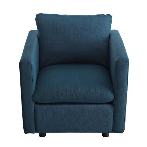 Activate Upholstered Fabric Armchair in Azure