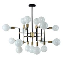 See Details - 17 Light Chandelier in Black Stainless Finish
