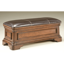 Heritage Court Leather Bench