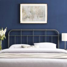 Alessia Full Metal Headboard in Gray