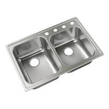 "Moen 33""x22"" stainless steel 18 gauge double bowl drop in sink"