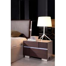 Modrest Anzio - Modern Brown Oak Nightstand