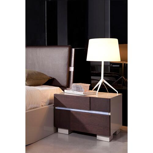 Modrest Anzio - Modern Brown Oak Nightstand