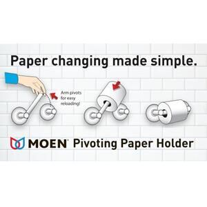Via chrome pivoting paper holder