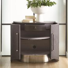 Milan Demi Lune-Charcoal Leather