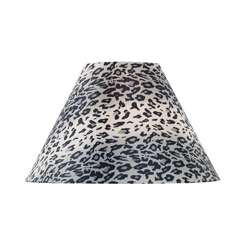 "Leopard Printed Fabric Shade - 7""tx18""bx12""sl"