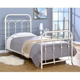 Hallwood Bed - Twin, Antique White Finish